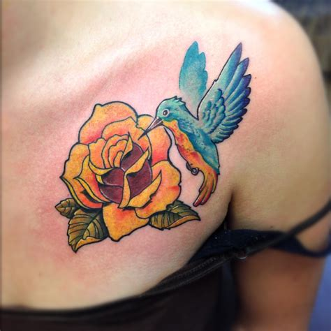 hummingbird and tattoos by paulberkey tattoos by