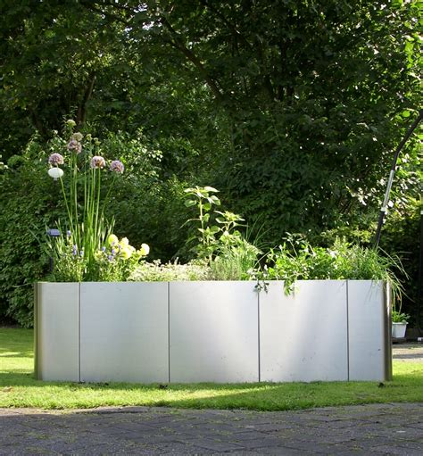 Moderne Hochbeete by Garten Im Quadrat Hochbeet Quot Square 163 Quot Edelstahl Bausatz