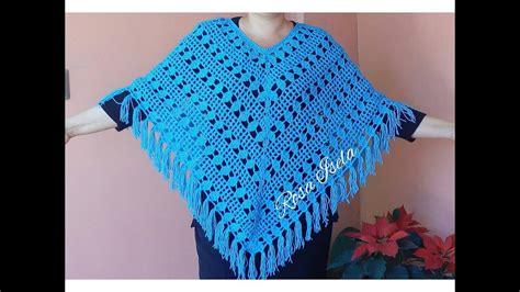 youtube crochet poncho poncho calado a crochet youtube tejido pinterest