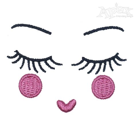 embroidery face embroidery design