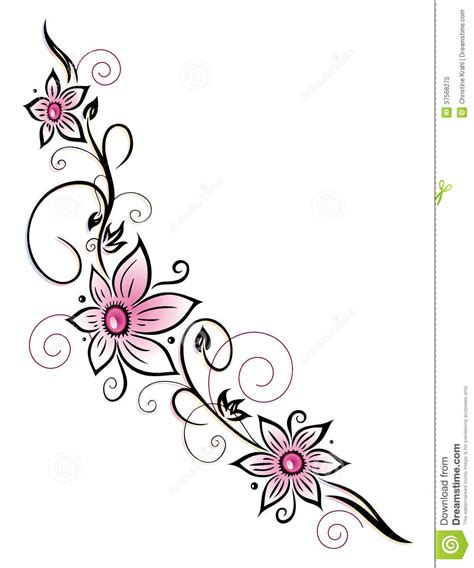 pink border stock vector illustration of decor