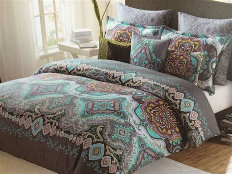 max studio moroccan medallion teal grey aqua king