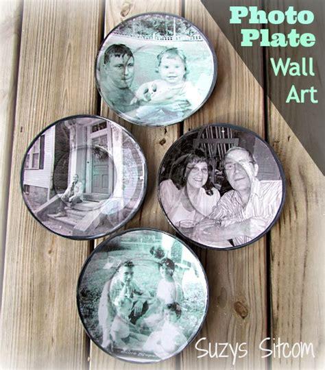 Decoupage Photographs - decoupage photograph plates cool wall decor