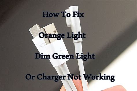 macbook pro charger orange how to fix apple mac magsafe charge simple dim green