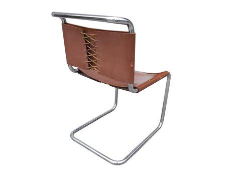 bauhaus design cantilevered tubular metal and saddle