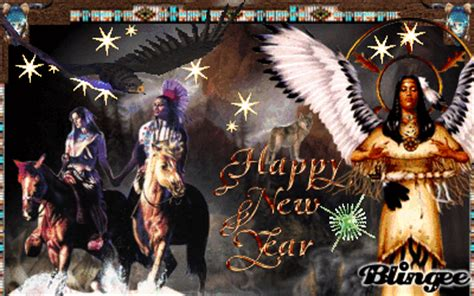 native american couple happy new year picture 133886121
