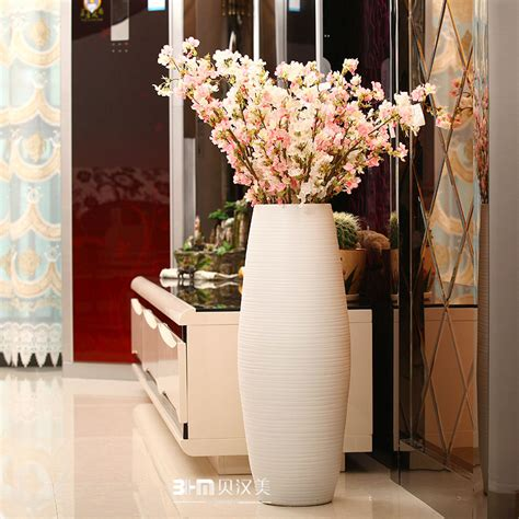 Floor Vases For Sale by White Lines Pattern Large Floor Vases Sale For Hotel