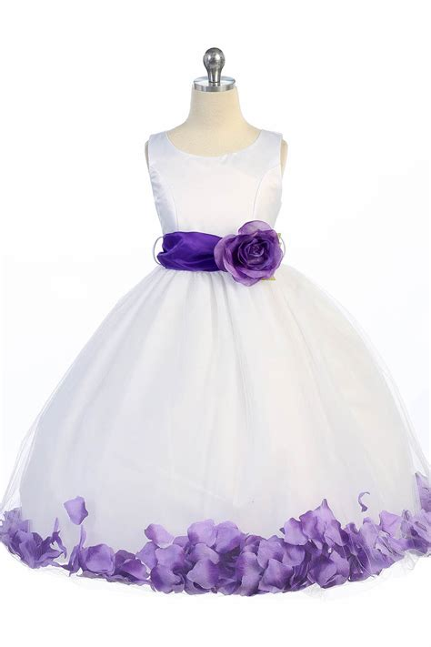 Flower Purple Dress by Flower Dresses White And Purple Discount Wedding