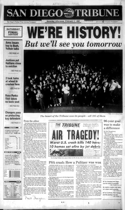 The Last Tribune - The San Diego Union-Tribune