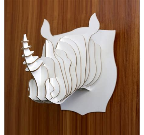 Trophy Decorations by Rhinoceros Animal Trophy Decoration Artwall And Co