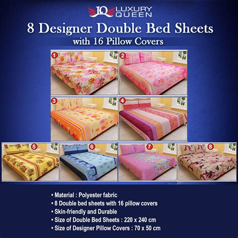 bedsheets buy bedsheets online at best prices in india buy luxury queen 8 designer double bed sheets with 16
