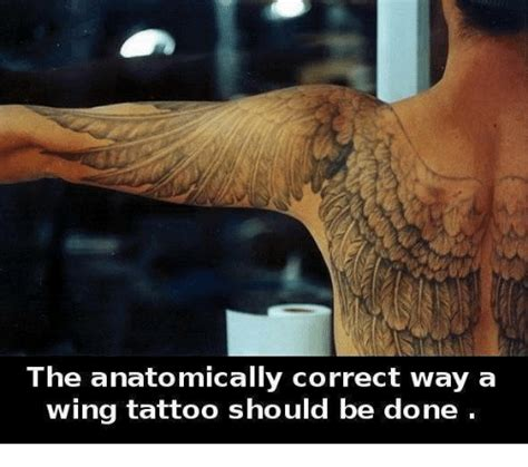 anatomically correct wing tattoo 25 best memes about a wing a wing memes