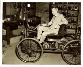 Henry T Ford Henry Ford With An 1896 Ford Quadricycle The