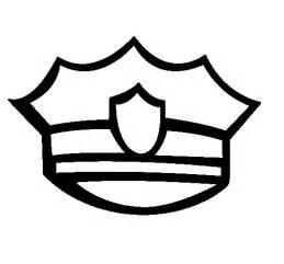 pin printable policeman hats to color on pinterest