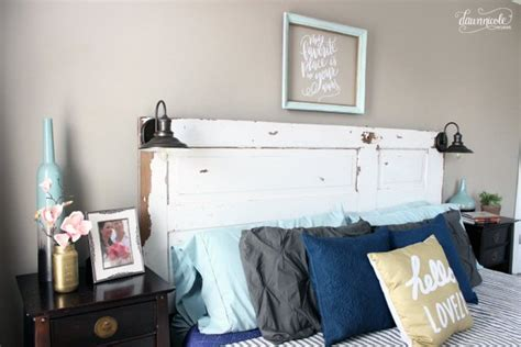 diy vintage bedroom diy vintage door headboard hometalk