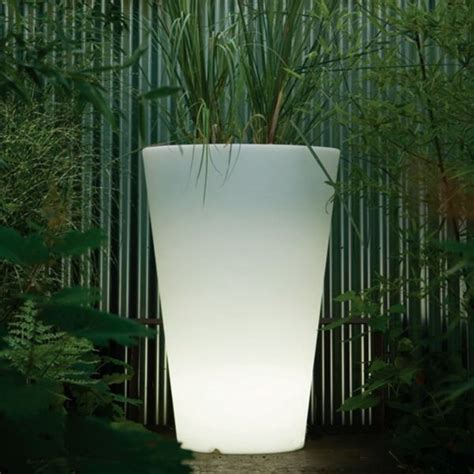 Lighted Planters by Lighted Liscio Indoor Outdoor Planter Modern Patio Chicago By Home Infatuation