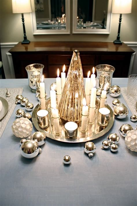 christmas table in gold and silver 22 ideas glamor