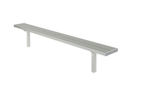 team bench permanent team bench 7 5 foot long seating solutions