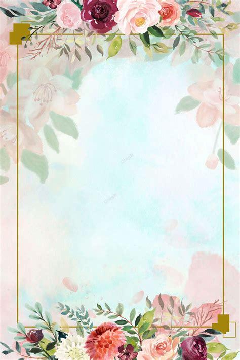 floral border fresh background poster creative flower