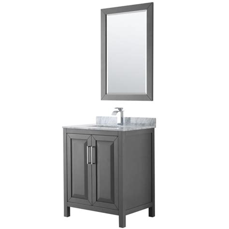 shop daria   dark gray single vanity marble top