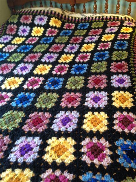 free pattern granny square afghan granny square afghan crochet afghans pinterest
