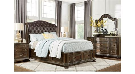 vienna 4 pc queen bedroom set traditional other metro whittington cherry 7 pc queen sleigh bedroom with 4 drawer
