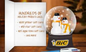 Jetblue Gift Cards In Stores - bic quot write your holiday wish quot instant win game win a 200 jetblue airline gift card