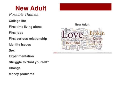 themes in ya literature what is this new adult fiction a new category of