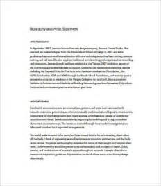 artist statement template artist statement exles 8 free pdf documents