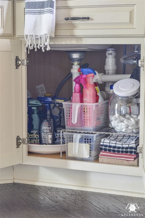 great idea for supplies under the kitchen sink too organization for under the kitchen sink kelley nan