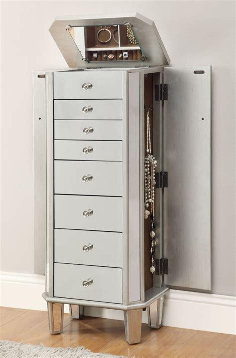 dark cherry jewelry armoire furniture free standing jewelry chest dark cherry