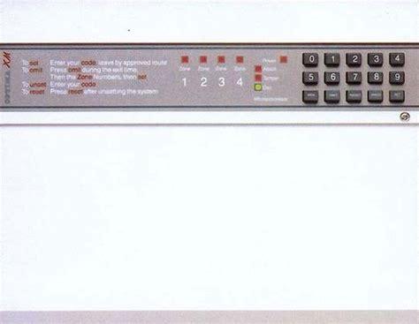 burglar alarm optima xm burglar alarm manual