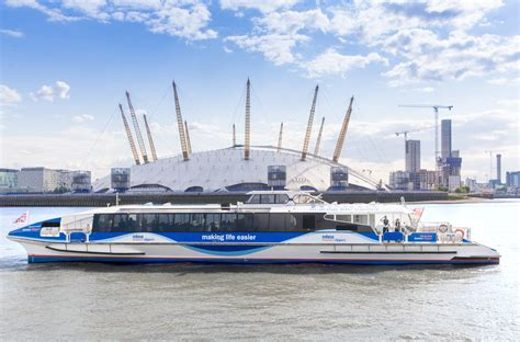 thames river boats tfl river bus getting here the o2