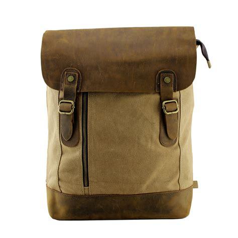 Handmade Leather Satchel - large vintage handmade leather backpack satchel travel bag