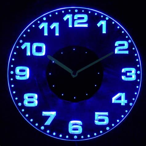 lighted wall neon lighted wall clocks