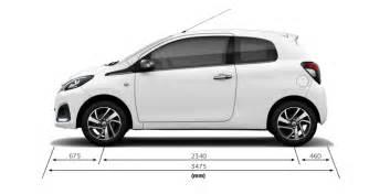 Peugeot 108 Dimensions 108 5 Door Technical Information Peugeot Cy