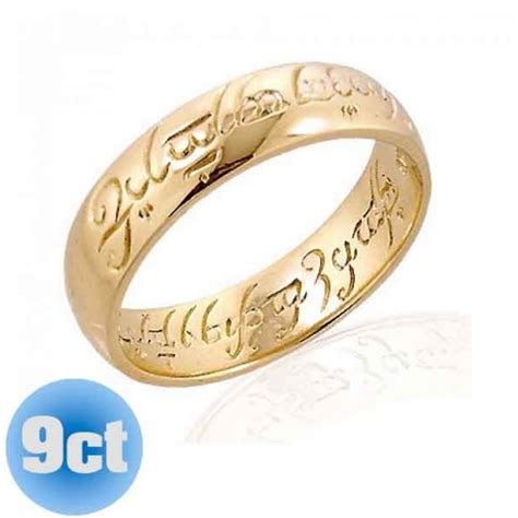 One Wedding Rings by The 9ct Gold Lord Of The Rings Ring The One Ring The