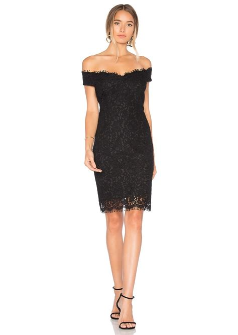 bardot bardot tara lace shoulder dress dresses