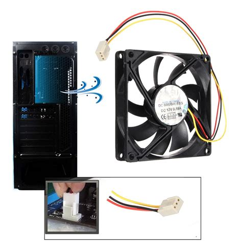 Kipas Pc 3 tandai 80 mm 15 mm pc kipas pendingin cpu heatsink