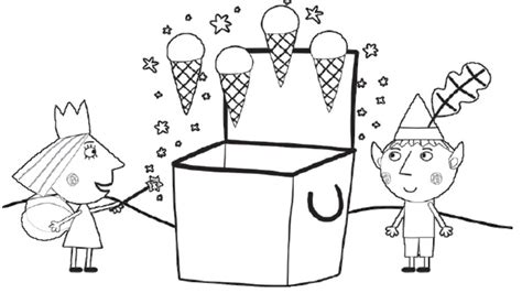 princess holly coloring page little kingdom ice creams colouring pages for preschoolers