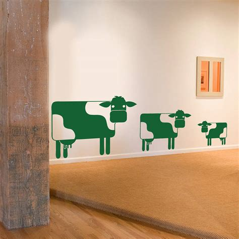 cow wall stickers cow family wall sticker decal by snuggledust studios