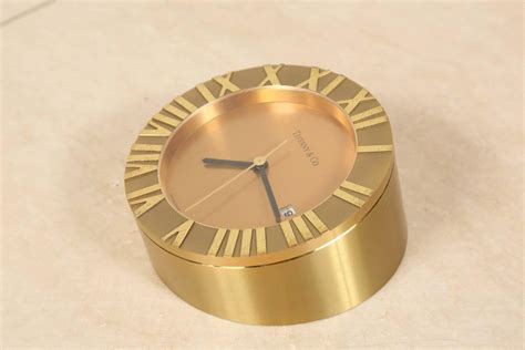 tiffany and co brass desk clock tiffany and co brass desk clock for sale at 1stdibs