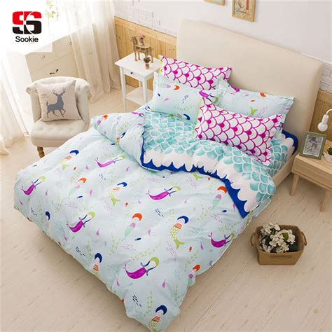 cute pattern bedding sookie pink bedding sets for girls cute mermaid and scales