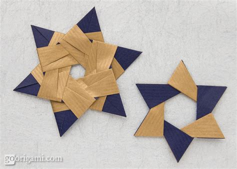 Origami 6 Point - sided kraft paper frog folia go origami