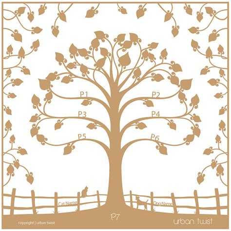 paper cut family tree template personalised traditional family tree papercut by