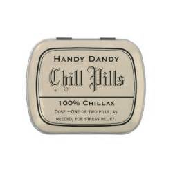 Apothecary vintage druggist label chill pill funny candy tins zazzle