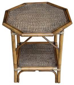 Rattan Side Table Rattan Living Octogan Accent Table Contemporary Side Tables And End Tables By Overstock