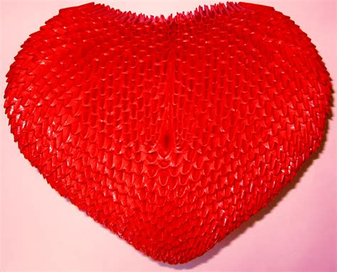 3d Origami Hearts - 3d origami by floorin333 on deviantart