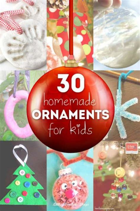 home made christmas decorations for kids 30 homemade ornaments for the kids hands on as we grow