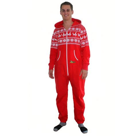 men s reindeer love jumpsuit reindeer red christmas and